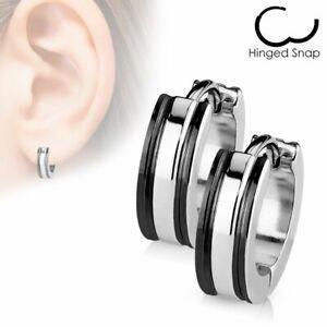 Pair Earrings Rings Trio Silver - Black
