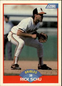 1989 Score Baltimore Orioles Baseball Card #452 Rick Schu