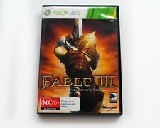 Fable III 3 Limited Edition - Xbox 360 -  VGC - AUS PAL