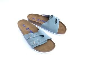 BIRKENSTOCK Vaduz light blue suola morbida soft