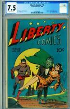 LIBERTY #10 CGC 7.5-Pre-Code horror cvr-Golden-Age-1945  2025567004
