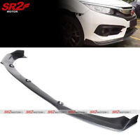 Front Body PU Bumper Lip Kit Spoiler fits 16-18 Honda Civic Coupe Sedan