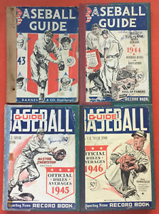 Sporting News Baseball Guide Record Book 1943 1944 1945 1946 Bound Books