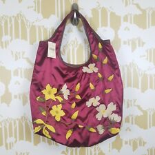 COLDWATER CREEK NWT Burgundy Embroidered Floral Satin Boho Bag Retail  89.95 a8aff2ff9f344