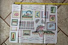 Sewing Fabric Panel Cotton applique Spring Bunnies Garden Country Jelly Beans