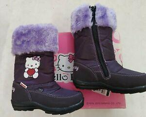 NEU OVP Sanrio HELLO KITTY Winterstiefel Thermostiefel Boots gefüttert lila 24