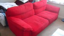 quick sale used sofas 2 x 3 seaters comfortable red living room