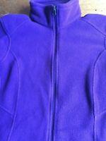 Eddie Bauer Full Zip Lightweight Fleece Jacket Womens Size M Purple Plum B14