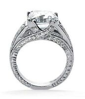4.67 carat, 4 ct Cushion cut Diamond Engagement Solitaire 14k Ring H color SI1