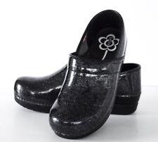 Sanita Women's Professional Skylar Blk Glitter/Blue Dots Mule Shoes 42 10.5 - 11