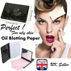 Facial Skin Oil Control Sheets Absorbing Tissue Face Blotting Paper Rose Wipes