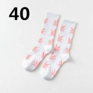MARIJUANA LEAF SOCKS 44 Colors Medium Size Crew 420 Pot Weed Cotton Stretch NEW