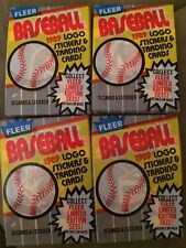Lot Of (4) 1989 Fleer Baseball Card Wax Packs