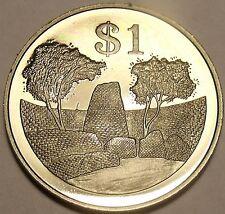 Rare Proof Zimbabwe 1980 Dollar~The Zimbabwe Ruins~15,000 Minted~Free Shipping