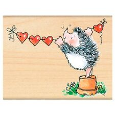 PENNY BLACK RUBBER STAMPS BANNER OF LOVE NEW wood STAMP