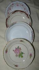 "4 Fruit Berry Ice Cream Bowls Mismatch China Wedding 5"" All Diff LOT Vintage"