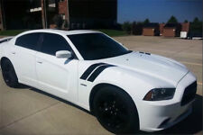 Dual Fender Stripe Hash Mark Stripe Decal Graphic Kit For Dodge Charger