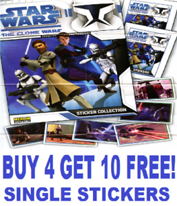 Melin Topps STAR WARS THE CLONE WARS Single Stickers  BUY 4 GET 10 FREE!
