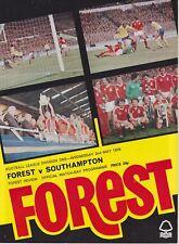 NOTTINGHAM FOREST v SOUTHAMPTON ~ 2 MAY 1979  ~ FOOTBALL PROGRAMME