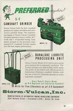 1961 Storm-Vulcan Camshaft Grinder & Duralube Lubrite Processing Unit Print Ad