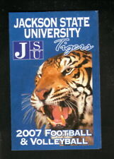 Jackson State Tigers--2007 Football & Volleyball Schedule