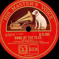 THEODORE CHALIAPINE -RUSSIAN BASS- Song of the flea / La Calunnia.. 78rpm  G3211