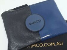 MIMCO Small Pouch Leather Black Blue Wallet Bag Clutch Purse Bag BNWT Authentic