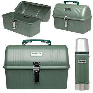 Stanley Classic, Lunch Box, Thermoskanne Hammerschlag-Lack grün Bauarbeiter