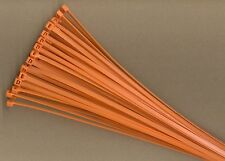 """100 14"""" Inch Long 50# Pound ORANGE Nylon Cable Zip Ties Ty Wraps MADE IN USA"""