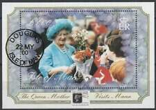 Isle of Man gestempeld 2000 used block 39 I - Queen Mother 100 Year (SG337)