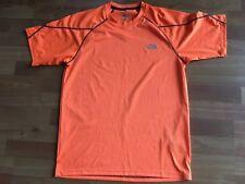 North Face Mens Short Sleeve Athletic T-Shirt Flashdry Orange Size S/P