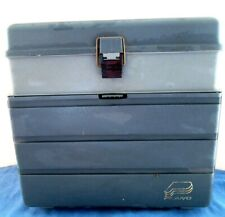 New listing Plano No.1233 Stowaway Tackle Box w/4 Lure Boxes, Spinner Bait Racks etc. - Nice