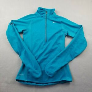 Nike Pullover Active Sweater Womens Extra Small Green 1/2 Zip Running Reflective
