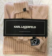 KARL LAGERFELD PARIS  Pink Muffler & Touch Glove Set Women's One Size
