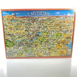 BUFFALO GAMES City Character Las Vegas Jigsaw Puzzle 513 Pieces Vintage 1991 NEW