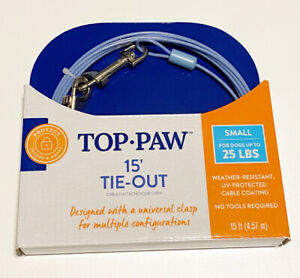 15 Foot Tie Out for dogs up to 25 Lbs