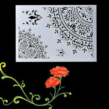 Cutting Die Wall Painting Scrapbooking Stamp Craft Mandala Stencil Template Tool