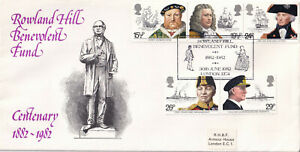 (36412) CLEARANCE GB Cover Maritime Heritage Rowland Hill Benevolent Fund 1982