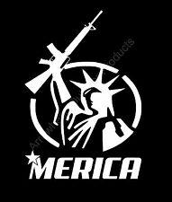 Merica M16 Rifle Liberty 2A America Vinyl Decal Sticker Car Truck Window