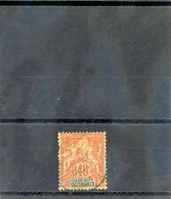 GUADELOUPE Sc 40(YT 36)F-VF USED 1892 40c RED ORANGE/STRAW $35
