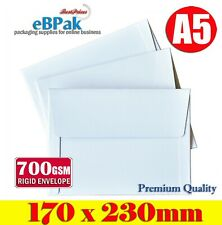 200x Rigid Mailer 170x230mm - 700gsm A5 Document Hard Envelope for Photo Film