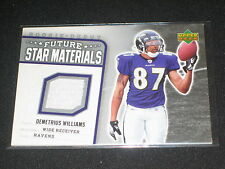 Demetrius Williams Ravens Legend Authentic Event Game Used Jersey Football Card