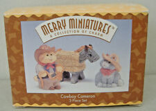 Cowboy Cameron~1996 Hallmark 3 Piece Merry Miniature Set