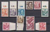 Q4025/ GERMANY FRENCH ZONE – WURTEMBERG – MI # 28 / 37 MINT MNH – CV 225 $