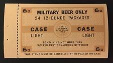 Utah State Revenue - 6 cents brown & tan - Military Light Beer Tax #B22 - UT