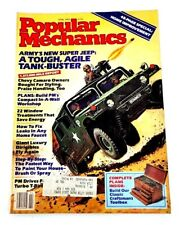 Vintage Popular Mechanics April 1983 Army Super Jeep Chevy Camaro Thunderbird