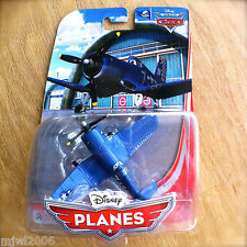 Disney Planes SKIPPER PREMIUM diecast World of Cars Flight School Navy veteran