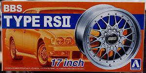 Aoshima 052419 Felgen BBS RS II 17 Zoll inkl. Bridgestone Expedia S 07 1:24 # 02