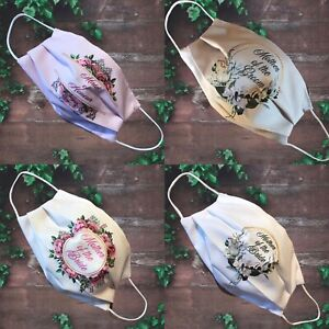 WEDDING Face Mask, Double Layer, Handmade POSTED IN 24HRS
