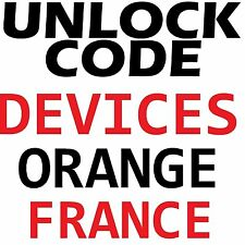Orange France Unlock Code Samsung LG HTC Motorola ZTE Asus Alcatel Nokia Sony